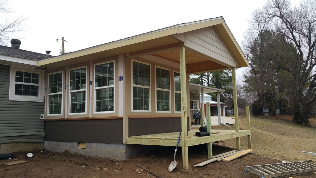 We added this room addition onto an existing house for Building a room addition