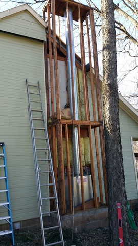 Fireplace siding repair in Fayetteville Arkansas