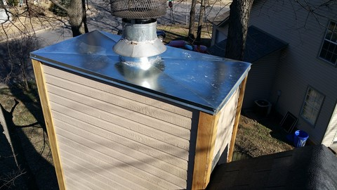 chimney Cap replacement in Fayetteville Arkansas