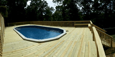 Deck Around Pool Rogers, Arkansas