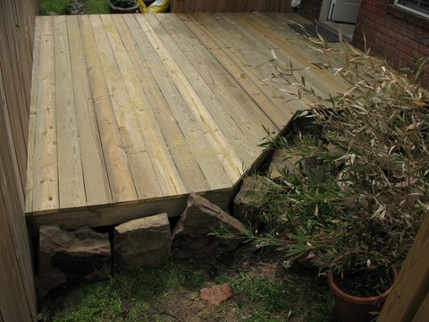 Small deck patio